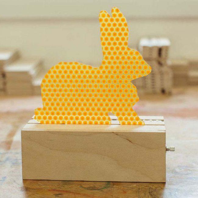ארנב להחלפה במנורה צהוב